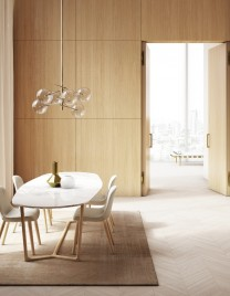 03.Linvisibile_Alba_Filo 10 Hinged door_Double leaves version_Wood essence finish_Boiserie System in continuity with the wall